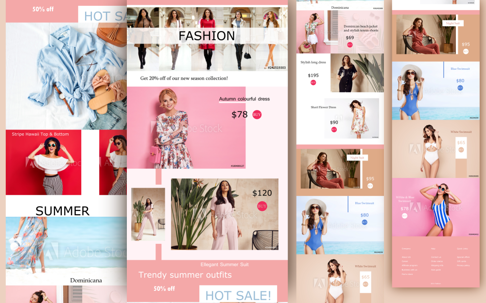 """Fashion Online Shop Layout"" PSD Template №159167"