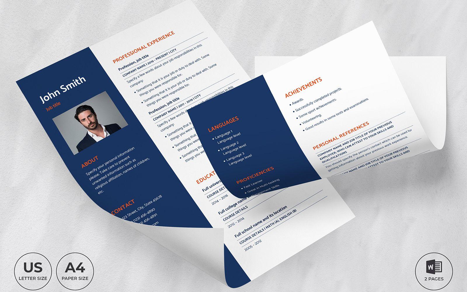 "Lebenslauf-Vorlage namens ""Business Coach CV"" #159159"