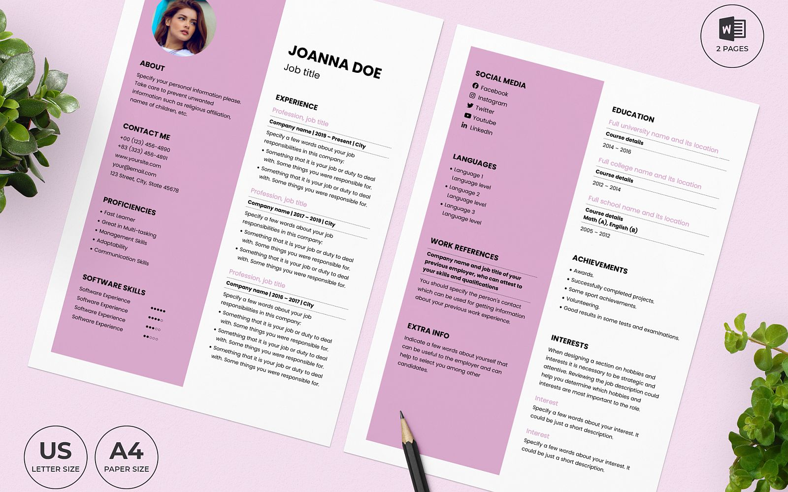 "Lebenslauf-Vorlage namens ""Wedding Planner CV"" #159155"
