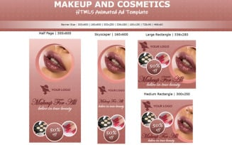 Makeup and Cosmetics - HTML5 Ad Template Animated Banner