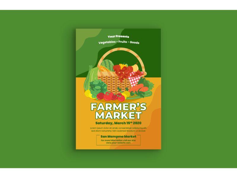 """Poster Farmer Market"" 企业设计模板 #159117"