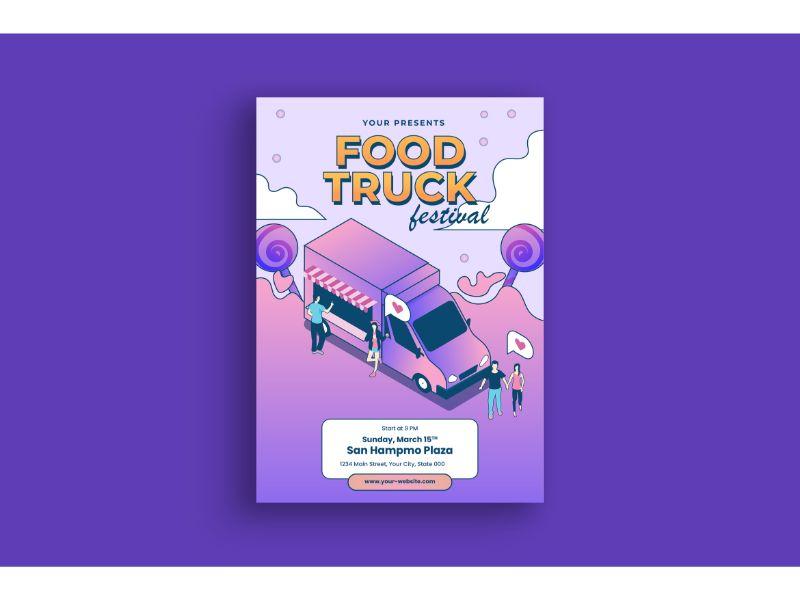 """Poster Food Truck Festival"" 企业设计模板 #159116"