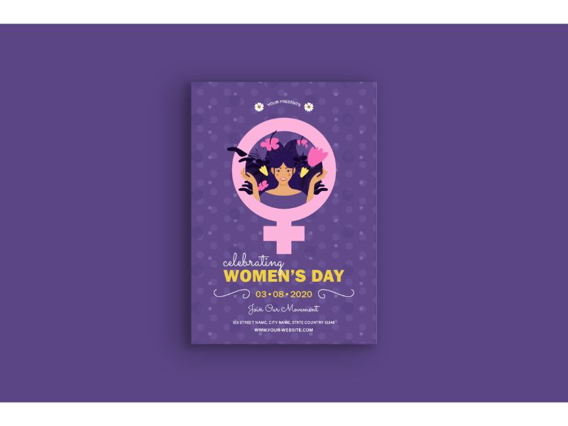 """Poster Women's Day"" 企业设计模板 #159115"
