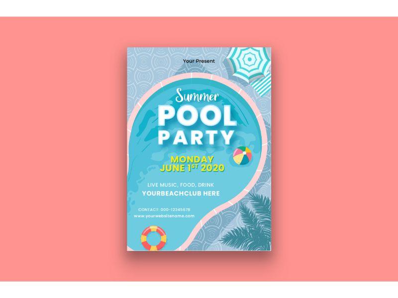 """Šablona firemního stylu """"Poster Summer Pool Party"""" #159120"""