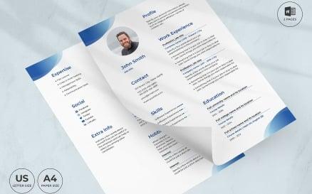 Scuba Diving Instructor CV Resume Template