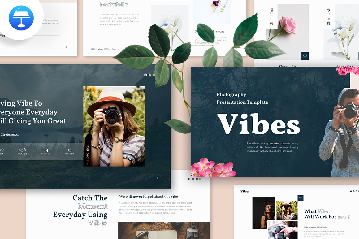 "Template Keynote #159169 ""Vibes Photography"""