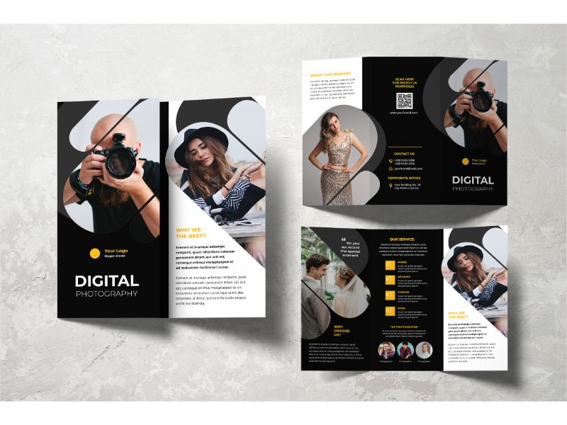 """Trifold Digital Photography"" 企业设计模板 #159108"