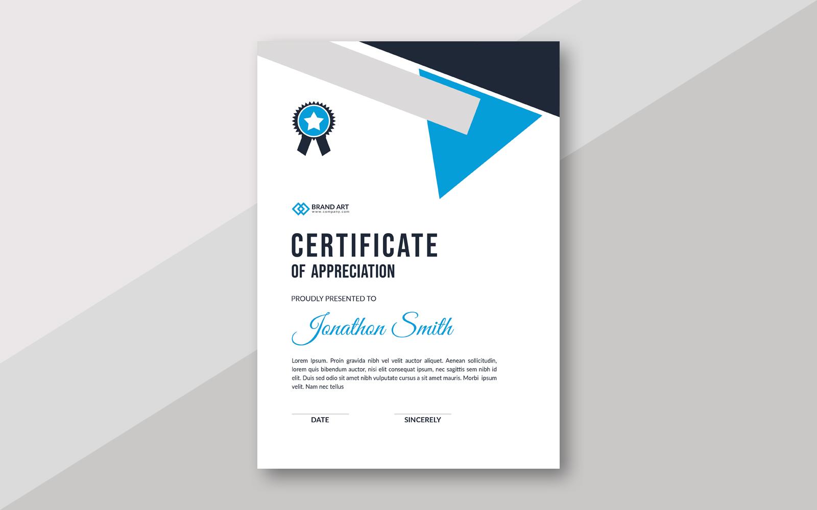 Modern Award Theme Certificate Template 159386