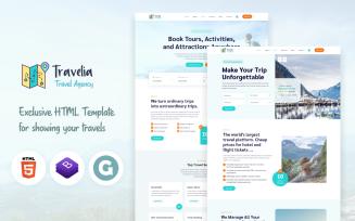 Travelia - Tour & Travel Agency Website Template