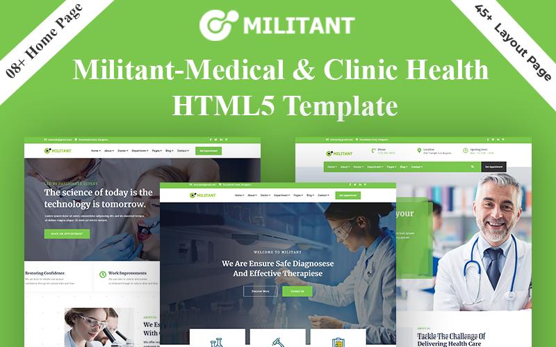 Responsive Militant - Medical & Clinic Health HTML5 Web Sitesi #159691