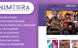 Animotra - Online Anime and Manga Website Template