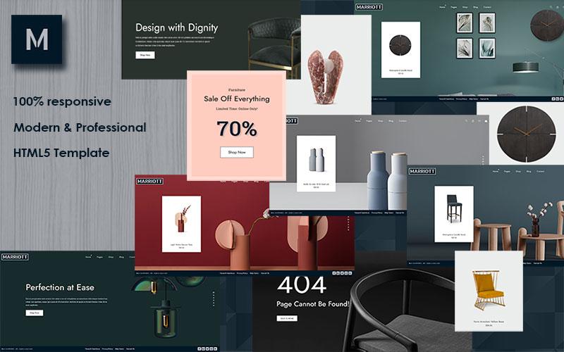 """Marriott - Furniture Store HTML Website Template"" 响应式网页模板 #159985"