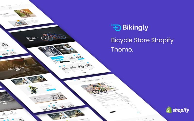 "Tema Shopify ""Bikingly - Bicycle Store"" #159987"