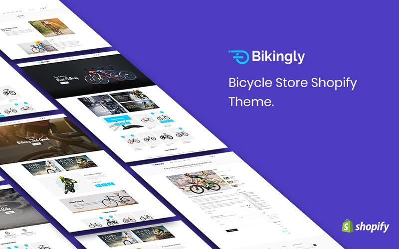 "Tema Shopify Responsive #159987 ""Bikingly - Bicycle Store"""