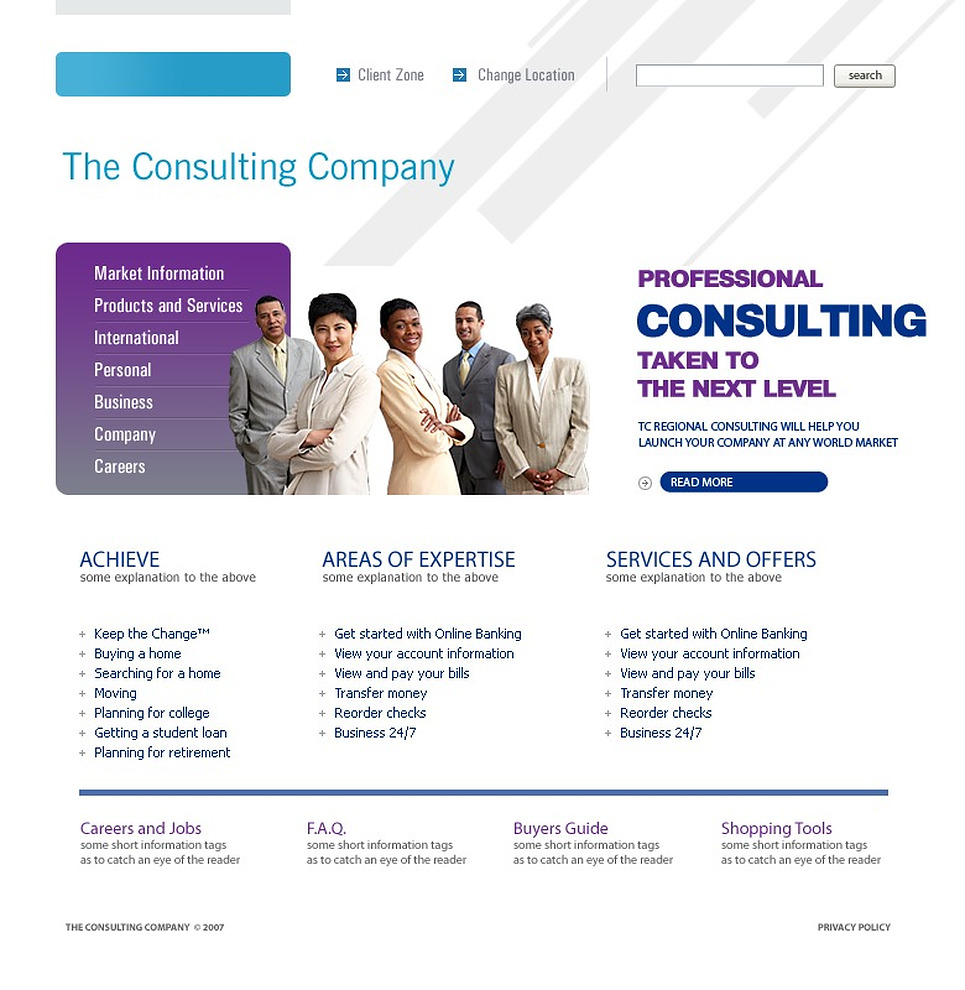 Consulting website template 16022 by wt website templates for Consulting website