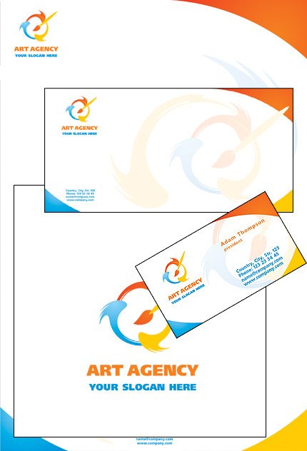 Art Studio Corporate Identity Template Vector Corporate Identity preview