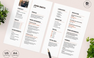 Restaurant Manager CV Resume Template