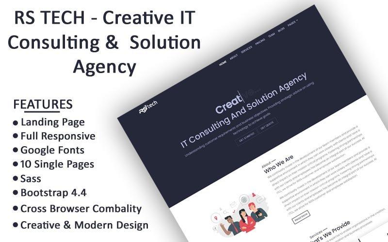 RS Tech Website Template 180958