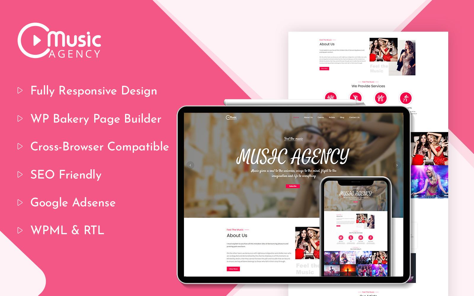Music Agency WordPress Theme Theme 187934