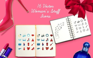Women's Stuff Icons Pattern