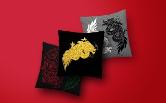 East Dragons Illstrations Pattern