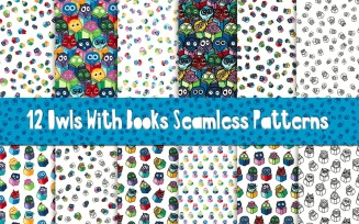 Fun Owls With Books Pattern