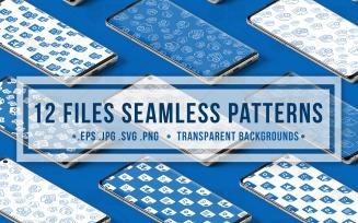 Document Files Seamless Set Pattern