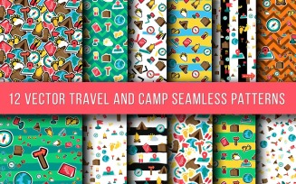Travel And Camping Seamless Pattern