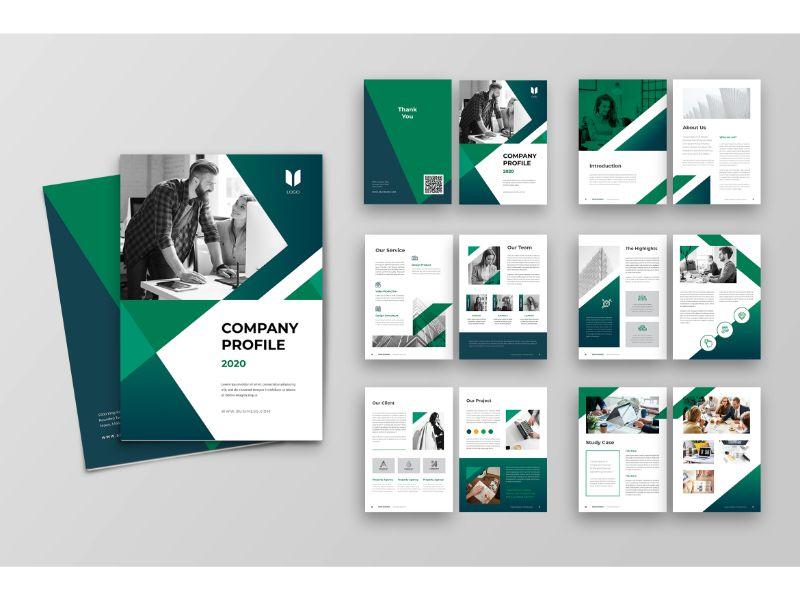 """Unternehmensidentität Vorlage namens """"CP 2 Green & White"""" #160151"""