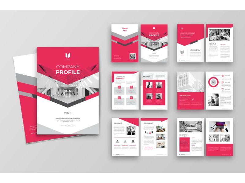 """Unternehmensidentität Vorlage namens """"CP 3 Red & White"""" #160152"""