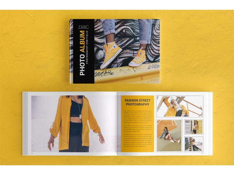 """Unternehmensidentität Vorlage namens """"Photo Album 5 Fashion Street"""" #160143"""