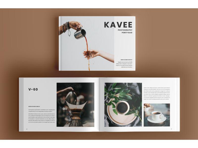 """Unternehmensidentität Vorlage namens """"Photo Album 6 Kavee"""" #160144"""