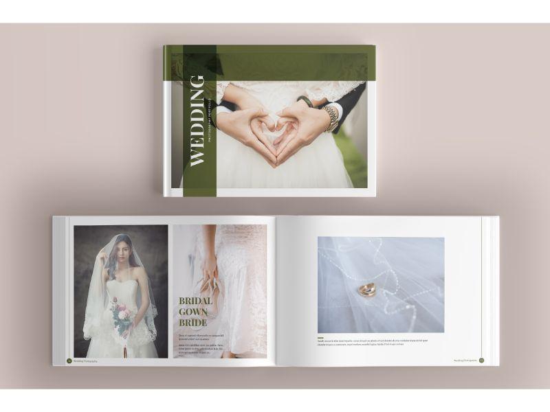 """Unternehmensidentität Vorlage namens """"Photo Album 8 Wedding"""" #160145"""