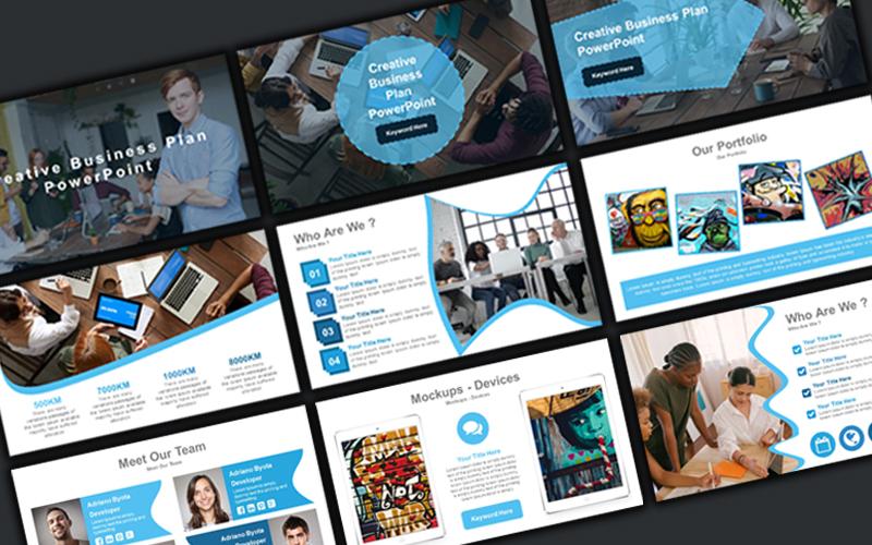 """""""Creative Business Plan"""" modèle PowerPoint Premium #160229"""