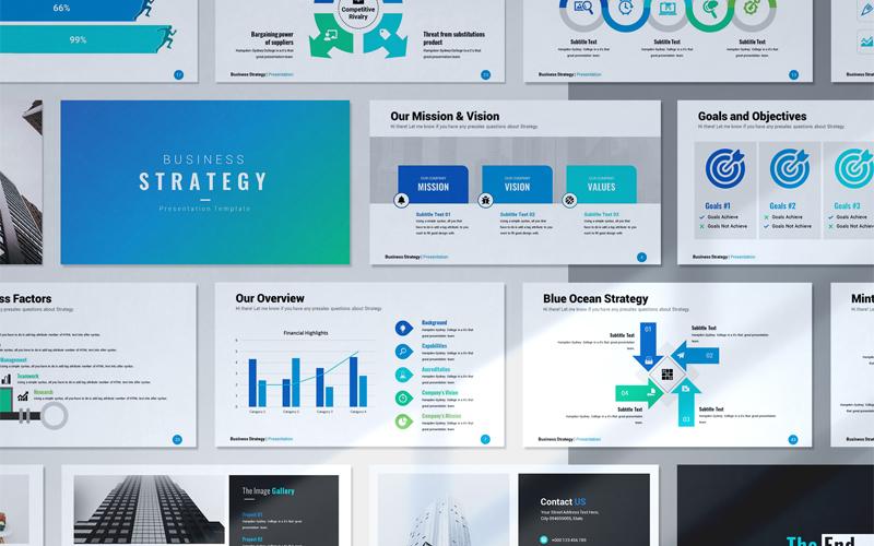 """Luxusní PowerPoint šablona """"Business Strategy"""" #160231"""