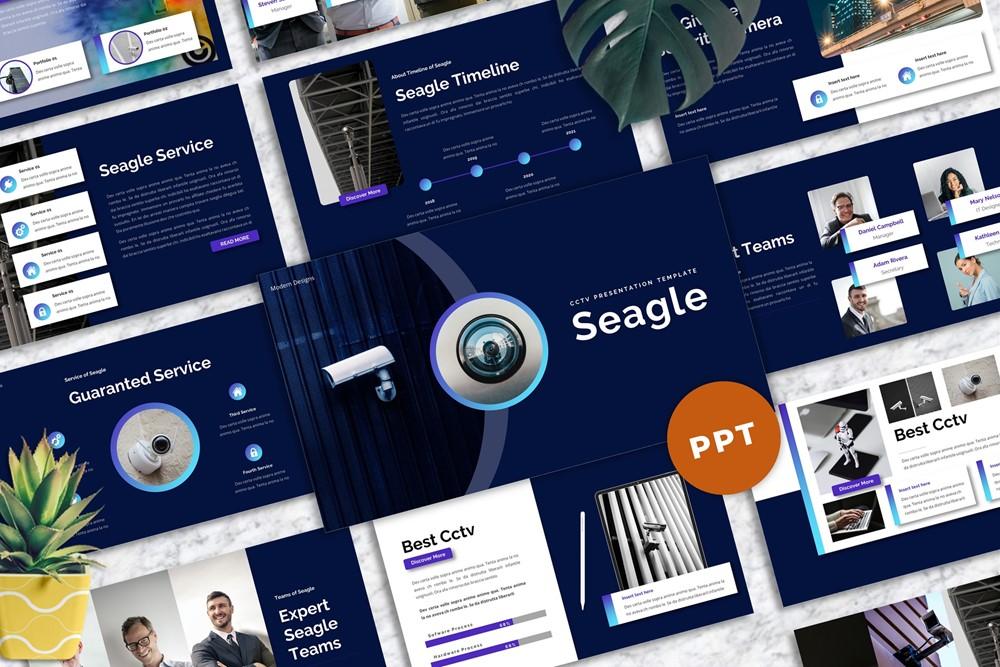 "PowerPoint šablona ""Seagle - CCTV"" #160227"