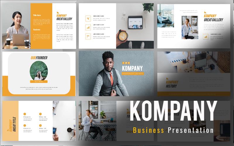 """Responzivní PowerPoint šablona """"Kompany Business"""" #160232"""