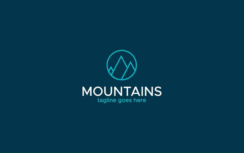 "Modello di Loghi #160325 ""Mountains"""