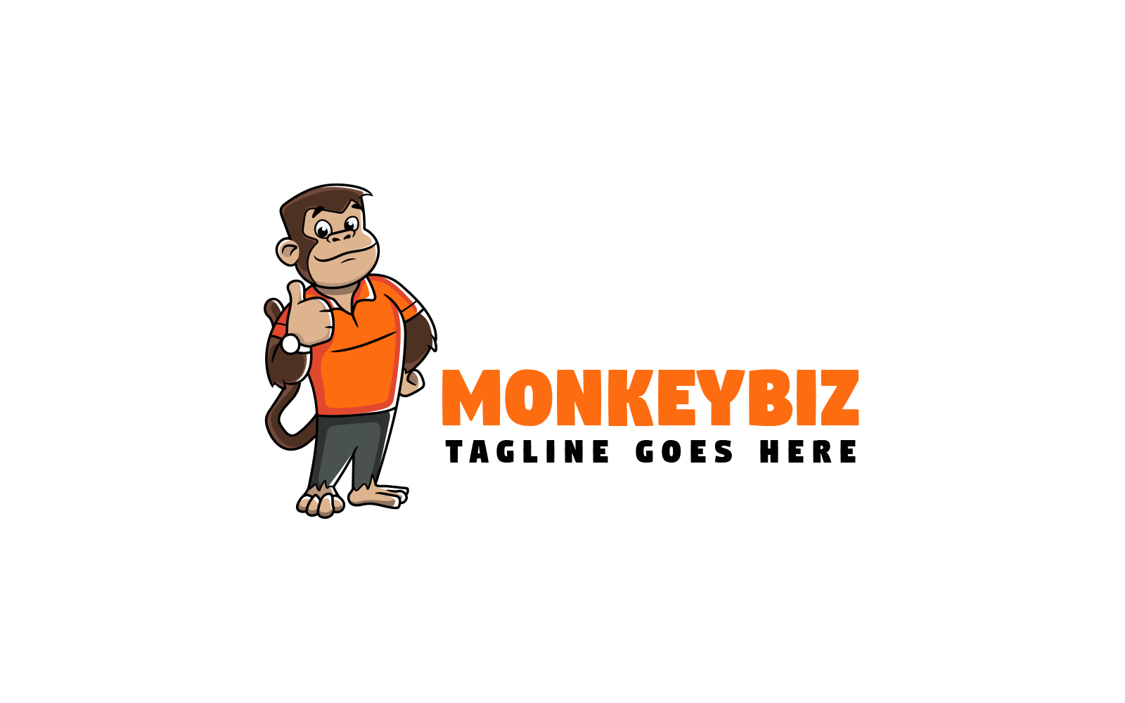 """Template di Loghi #160321 """"Monkey Mascot"""""""