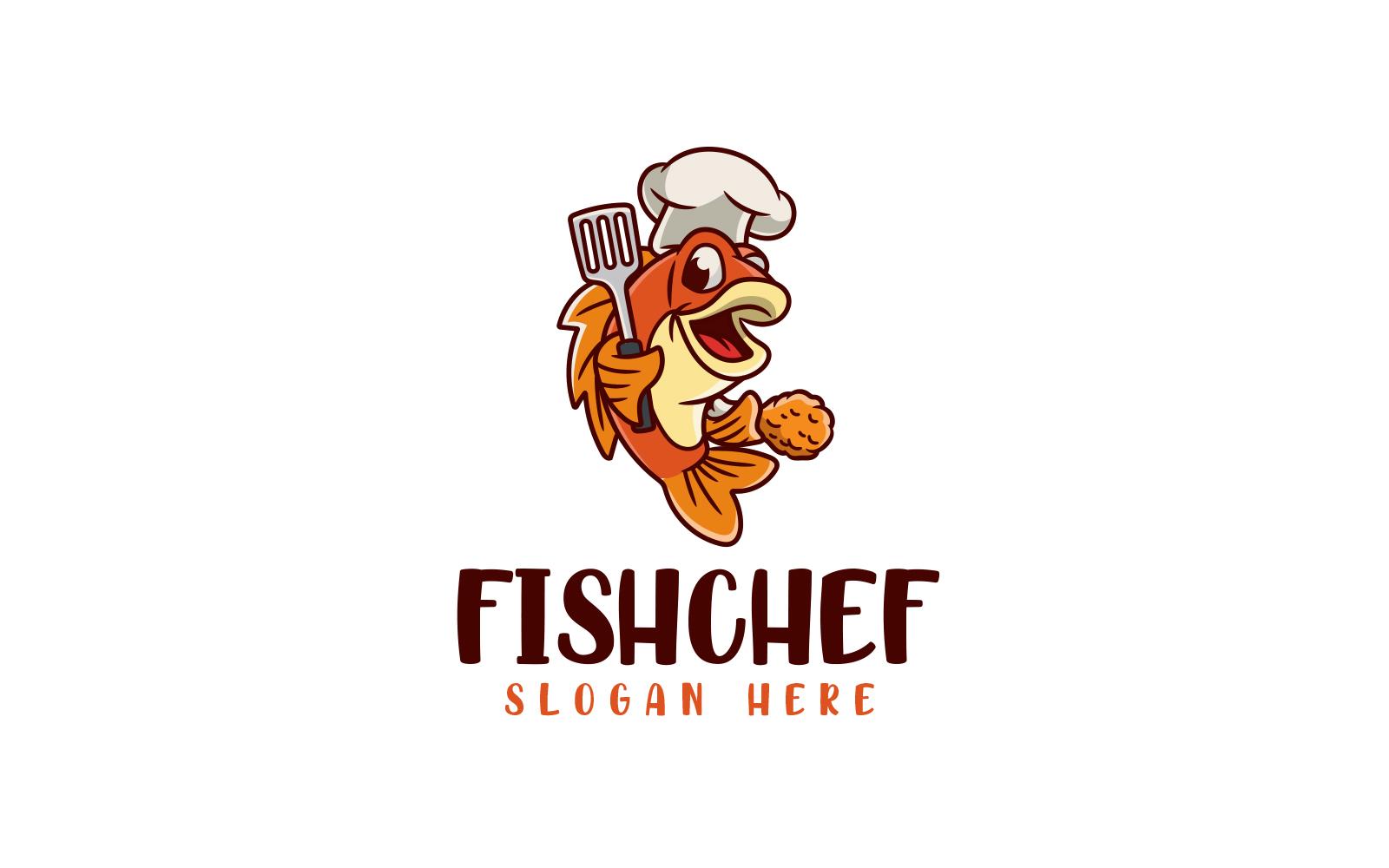 "Template di Loghi #160324 ""Fish Chef"""