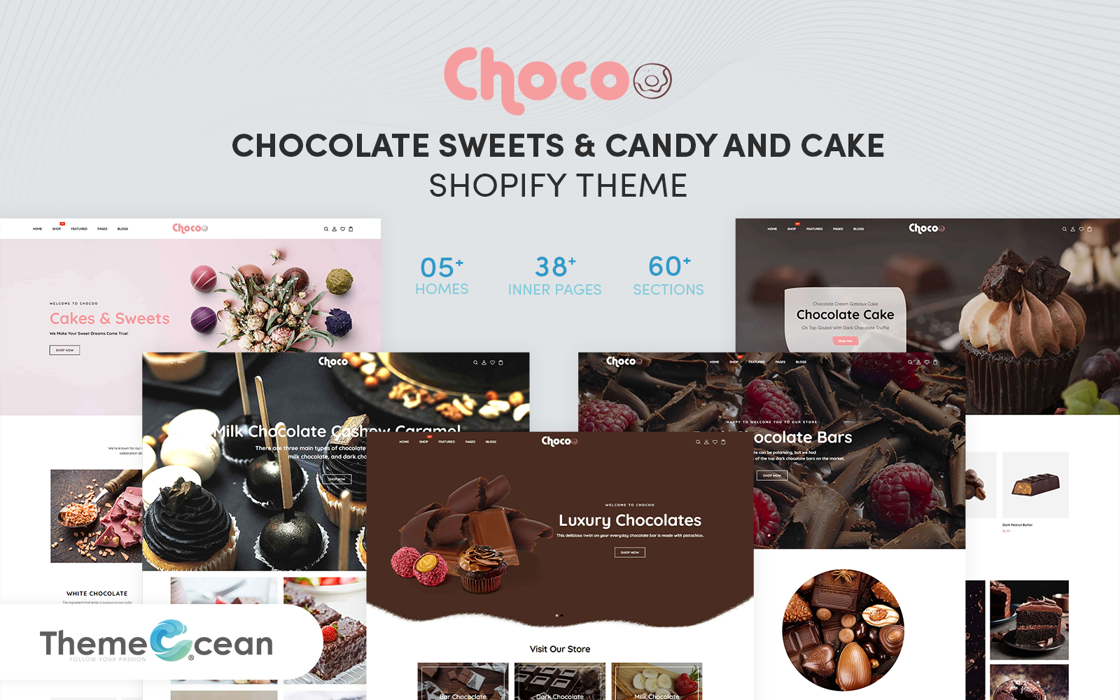 "Template Shopify Responsive #160561 ""Chocoo - Chocolate Sweets & Candy And Cake"""