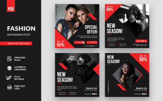 Creative Fashion Instagram Post Social Media Template