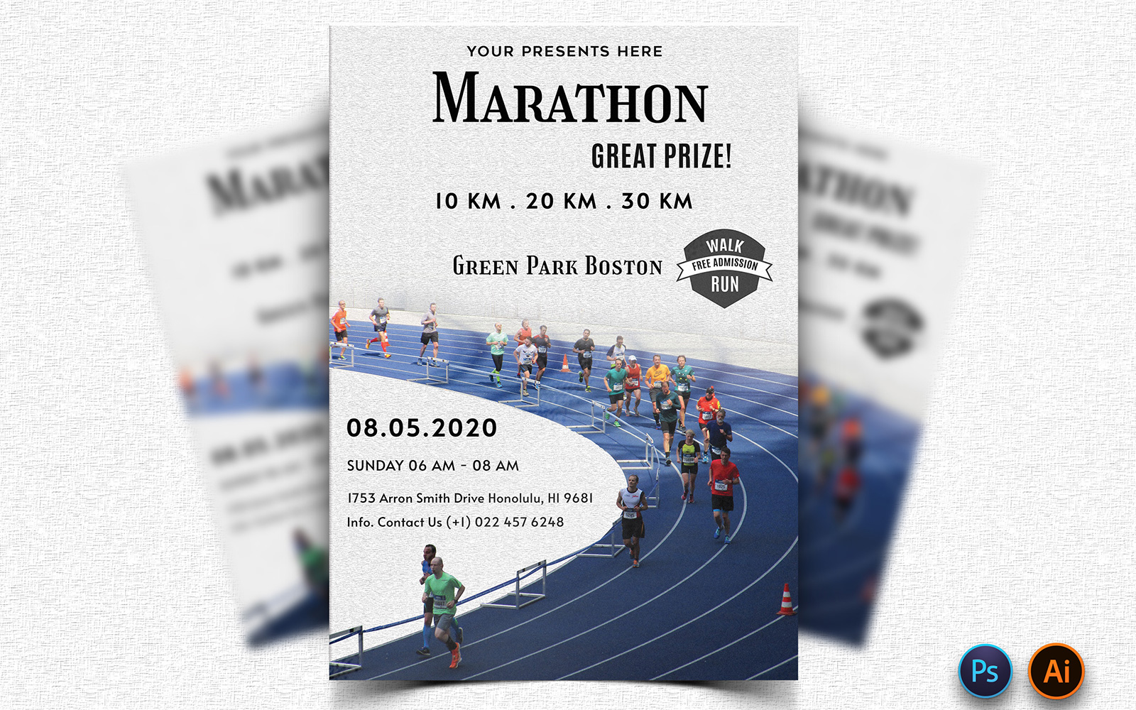 "Plantilla De Identidad Corporativa ""Draggle - Marathon Event Flyer Design"" #160633"