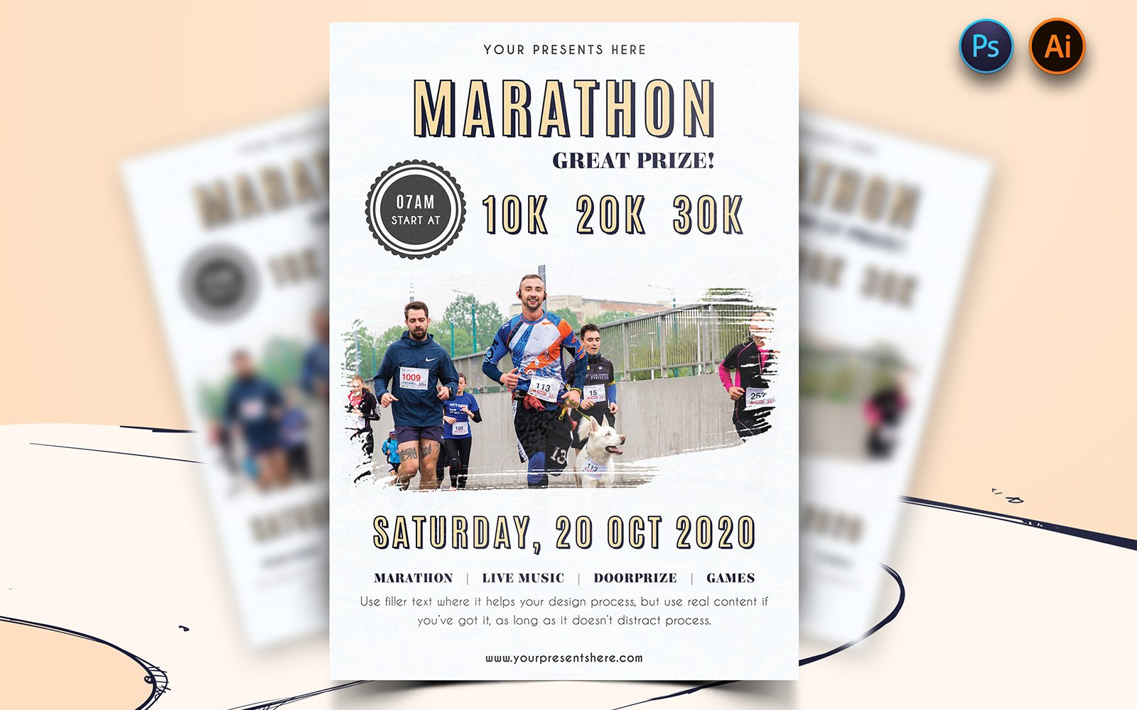 "Plantilla De Identidad Corporativa ""Imaginary - Marathon Event Flyer Design"" #160638"