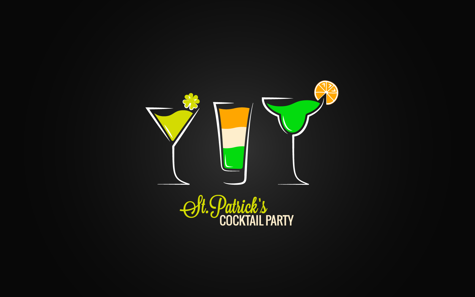 "Plantilla De Identidad Corporativa ""Patrick Day Cocktail Design Background."" #160641"