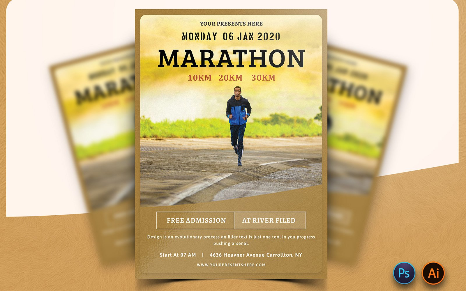 "Plantilla De Identidad Corporativa ""Slightly - Marathon Event Flyer Design"" #160639"