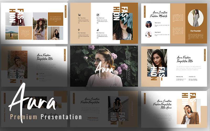 """Luxusní PowerPoint šablona """"Aura Creative Fashion"""" #160734"""