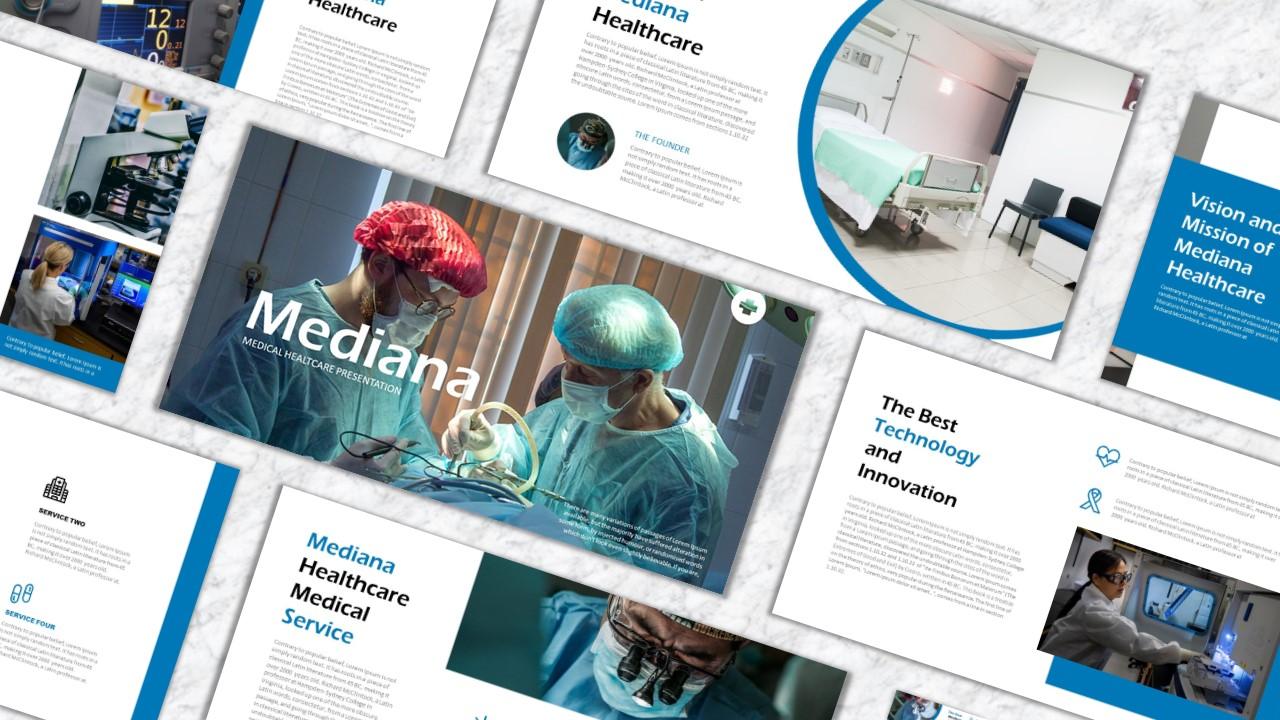 """Luxusní PowerPoint šablona """"Mediana"""" #160731"""