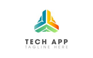 Tech App Modern Design Logo Template