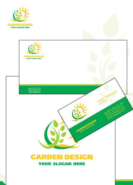 Garden Design Corporate Identity Template 16110
